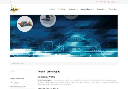 Screenshot van adeon.nl