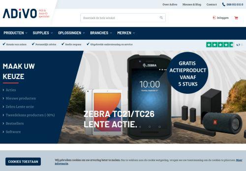 Screenshot van adivo.nl