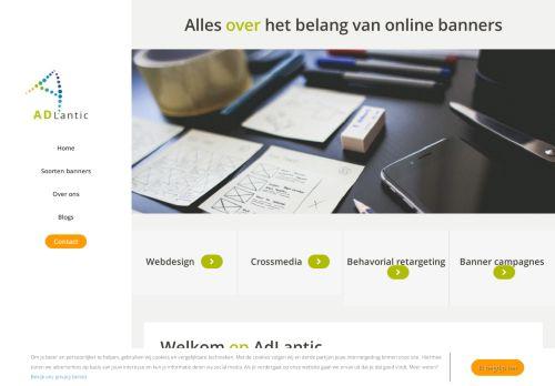 Screenshot van adlantic.nl