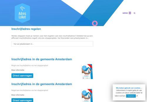 Screenshot van adresloket.nl