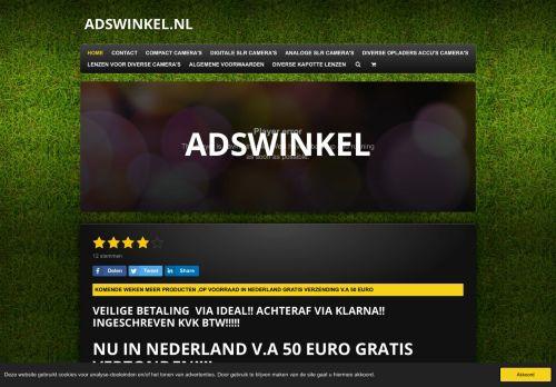 Screenshot van adswinkel.nl
