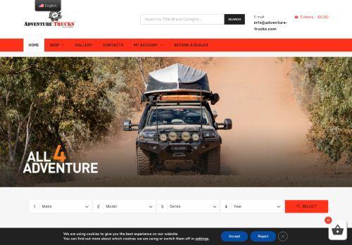 Screenshot van adventure-trucks.com