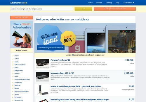 Screenshot van advertenties.com