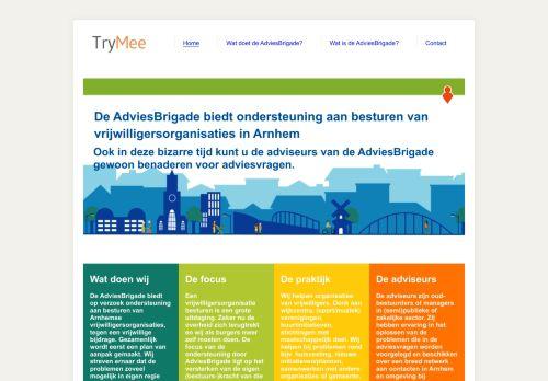 Screenshot van adviesbrigade.nl