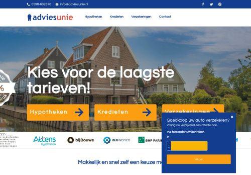 Screenshot van adviesunie.nl