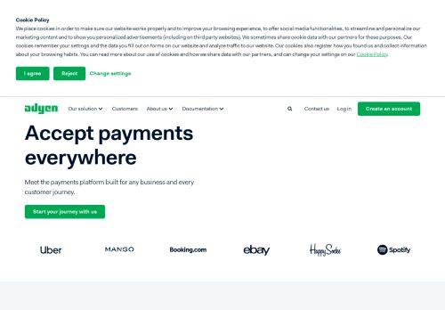 Screenshot van adyen.com