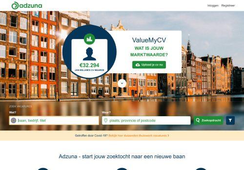 Screenshot van adzuna.nl