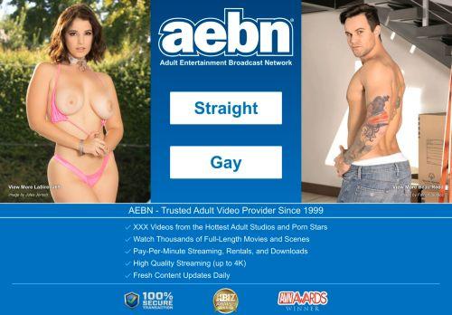 Screenshot van aebn.net