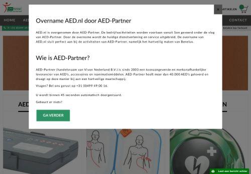 Screenshot van aed.nl