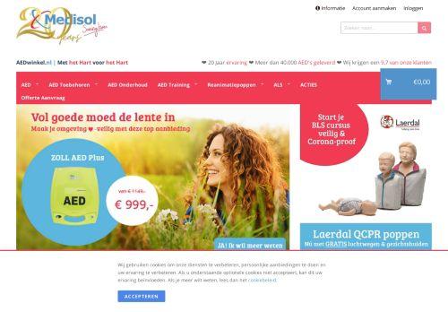 Screenshot van aedwinkel.nl