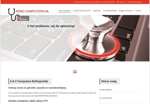 Screenshot van aenc-computers.nl
