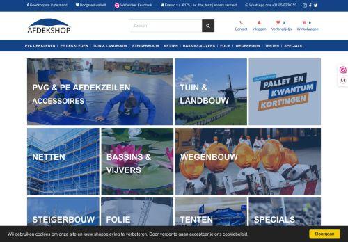 Screenshot van afdekshop.nl