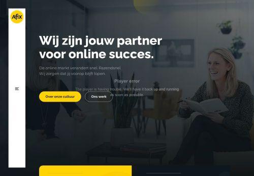 Screenshot van afix.nl