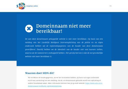 Screenshot van afscheidskorting.nl