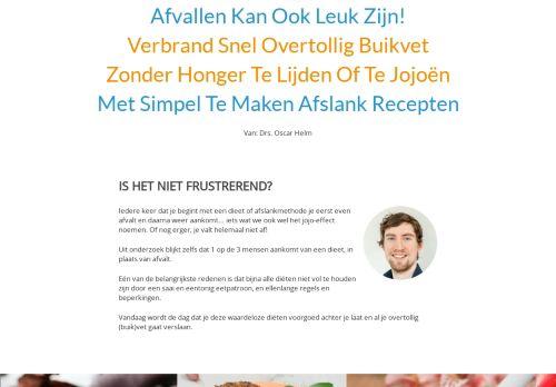 Screenshot van afslankreceptenbijbel.nl