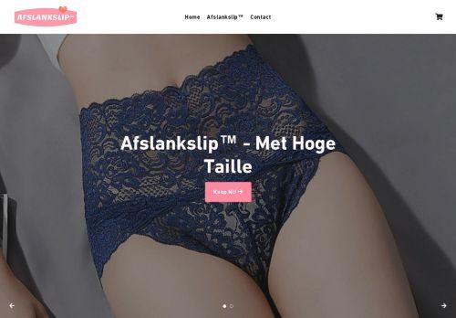 Screenshot van afslankslip.nl