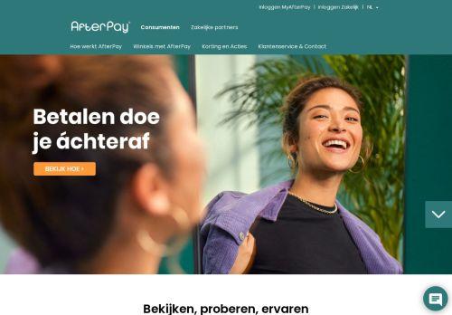 Screenshot van afterpay.nl