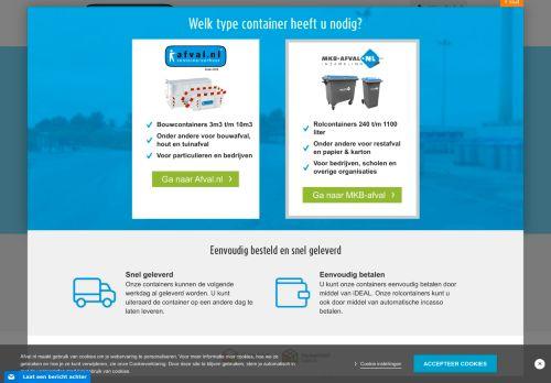 Screenshot van afval.nl