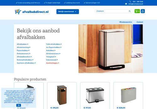 Screenshot van afvalbakdirect.nl