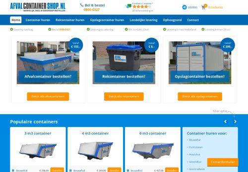 Screenshot van afvalcontainershop.nl