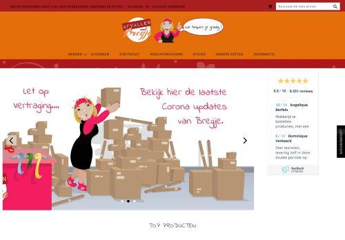 Screenshot van afvallenmetbregje.nl