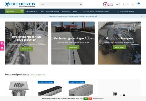 Screenshot van afwateringstechniek.nl