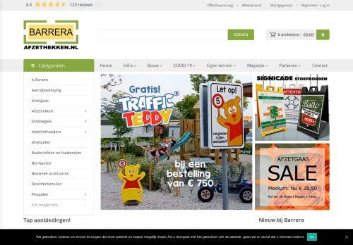 Screenshot van afzethekken.nl