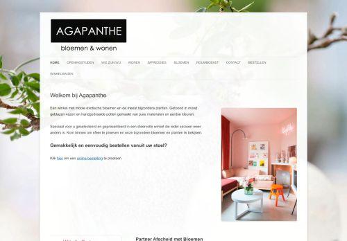 Screenshot van agapanthe.nl
