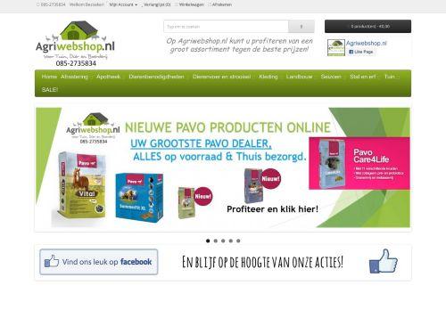 Screenshot van agriwebshop.com