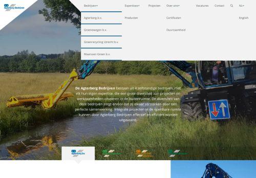 Screenshot van agterberg.com