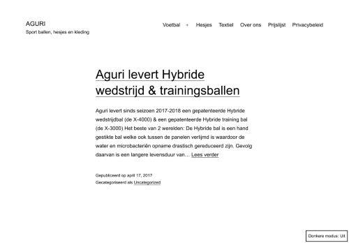 Screenshot van aguri.nl