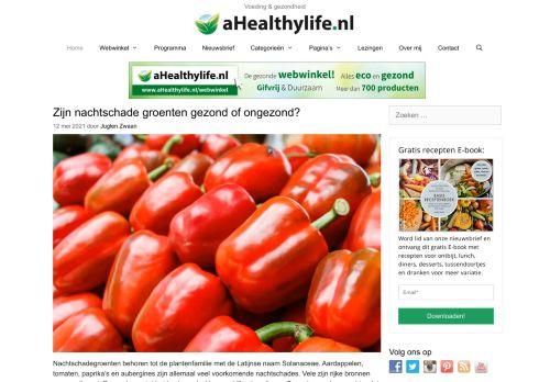 Screenshot van ahealthylife.nl