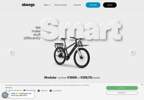 Screenshot van ahooga.bike