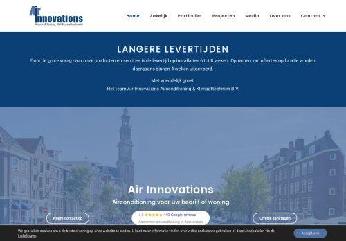 Screenshot van air-innovations.nl
