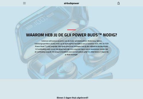 Screenshot van airbudspower.com
