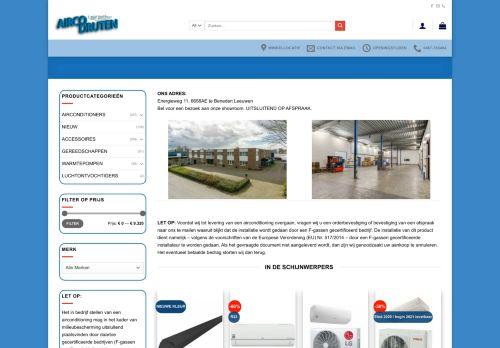 Screenshot van aircodruten.nl