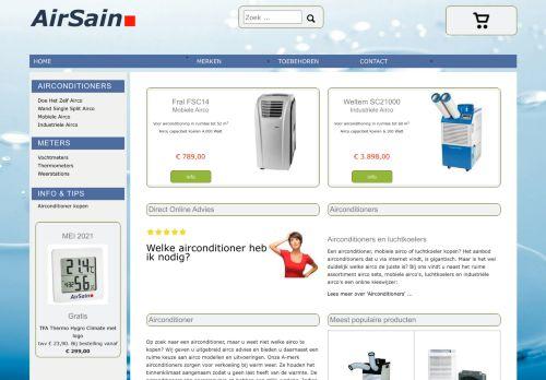 Screenshot van airconditioner.nu