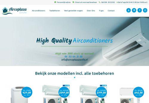 Screenshot van aircoplazazwolle.nl