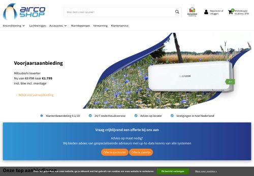 Screenshot van aircoshop.nl