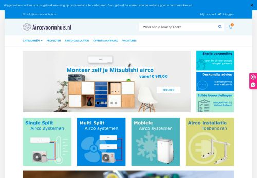 Screenshot van aircovoorinhuis.nl