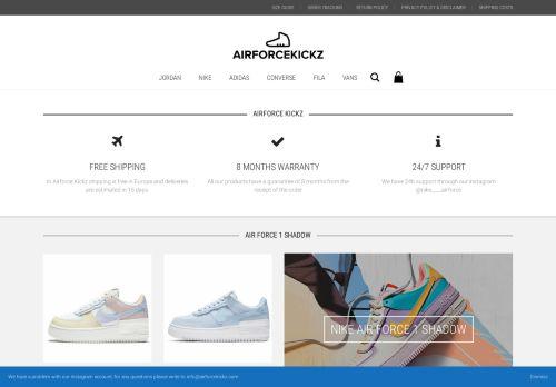Screenshot van airforcekickz.com