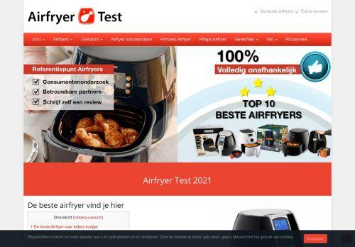 Screenshot van airfryertest.be