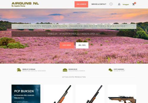 Screenshot van airguns.nl