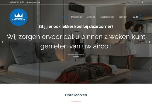 Screenshot van airkoning.nl