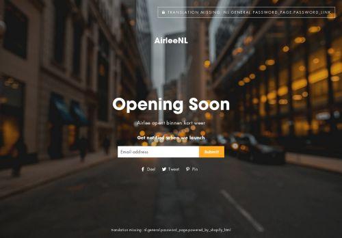 Screenshot van airlee.nl