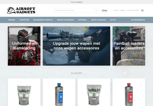 Screenshot van airsoftgadgets.nl