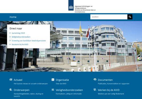 Screenshot van aivd.nl