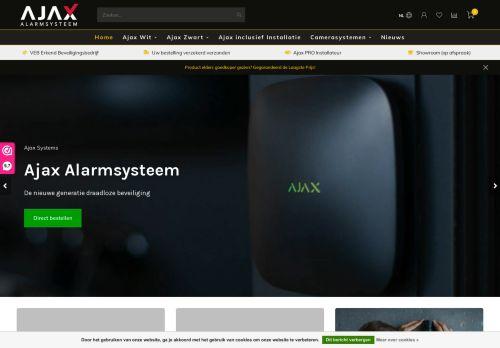 Screenshot van ajax-alarmsysteem.nl