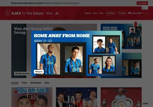 Screenshot van ajax.nl