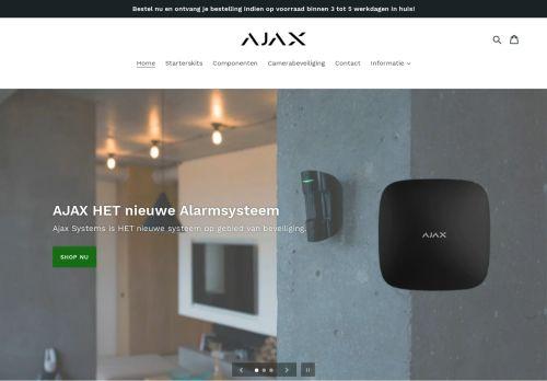 Screenshot van ajaxalarmsystemen.nl